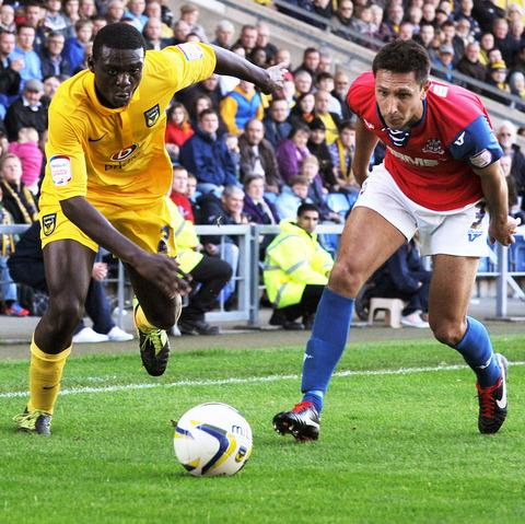 Daniel Boateng (left) is expected to replace the injured Damian Batt at Cheltenham tonight