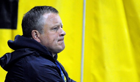 Oxford United boss Chris Wilder during last night's 3-0 defeat by Port Vale