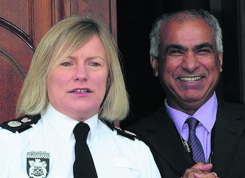 Khan Juna with Thames Valley Police Chief Constable Sara Thornton