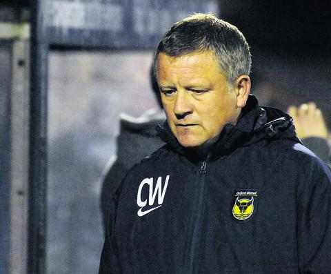 Chris Wilder at the final whistle at Rochdale on Tuesday night
