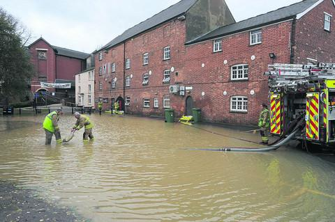 Firefighters pump water out of Banbury's Mill Arts Centre