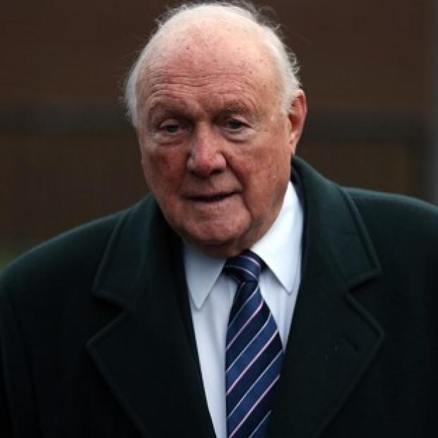 Stuart Hall arrives at Preston Magistrates' Court, where he denied allegations of sexual abuse against young girls