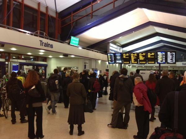 Commuters stranded at Oxford train station tonight