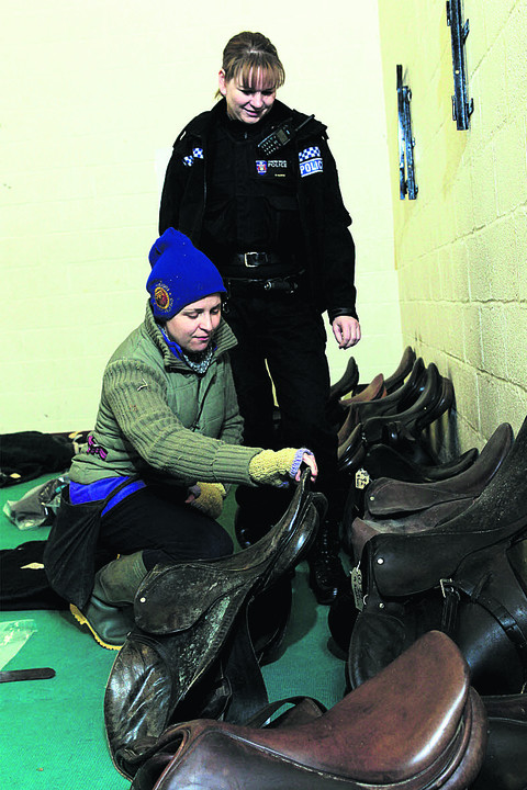 Police appeal to track owners of stolen tack