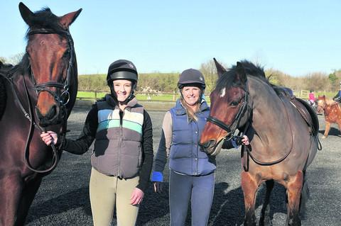 Olivia Abdolrazaghi, 17, pictured with her mother Sarah Hill, aims to compete in the Olympics in eventing
