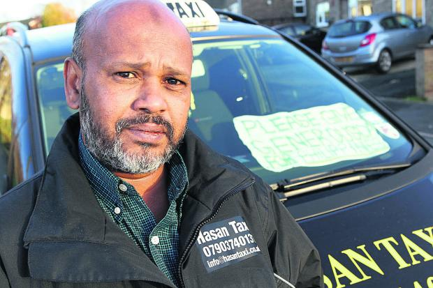 Banbury Cake: Taxi driver Tahirul Hasan is donating a share of his fares to the disaster appeal