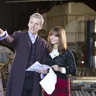 Banbury Cake: Actor Peter Capaldi admitted feeling nervous as he started work as the new Doctor Who with co-star Jenna Coleman