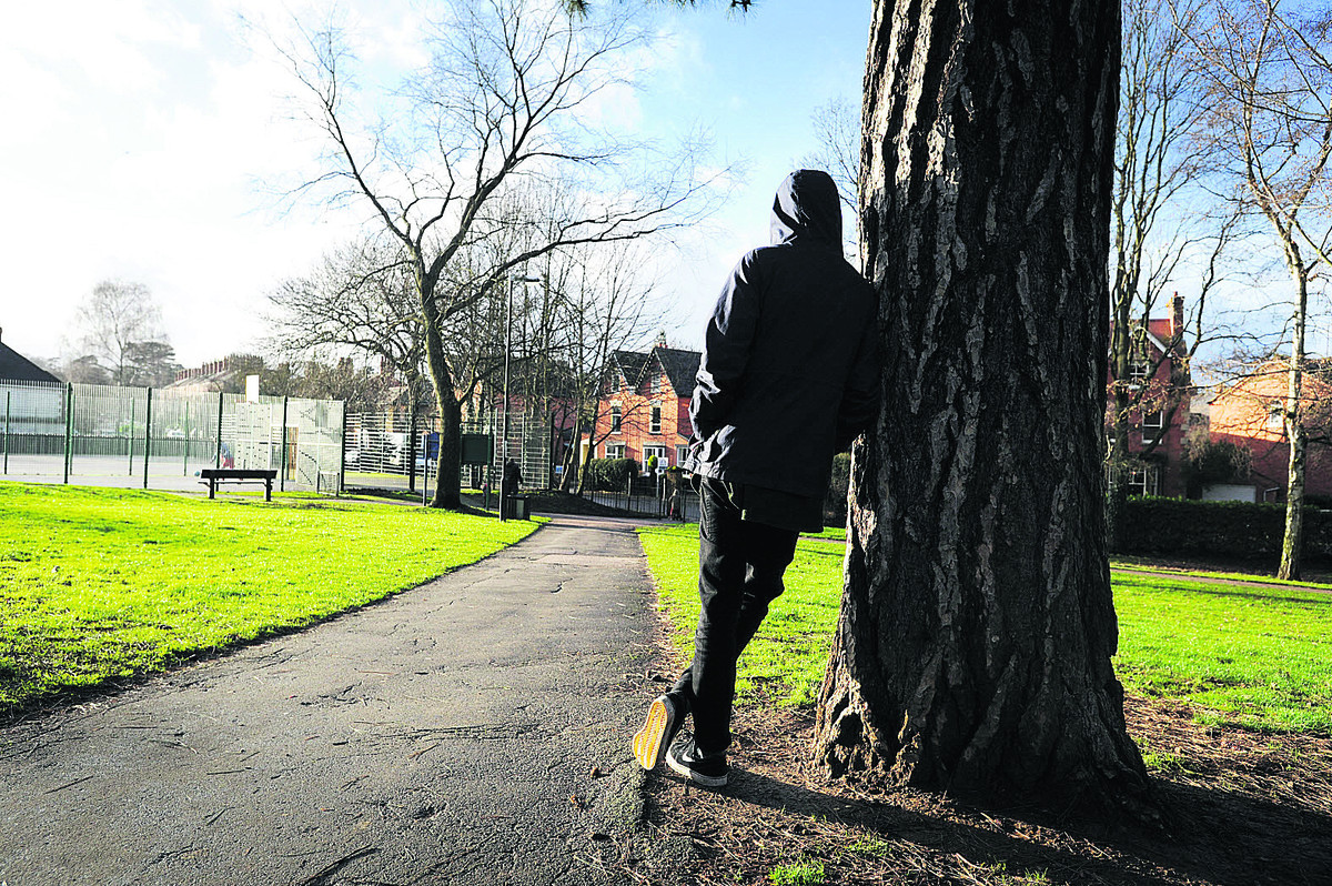 William looks across People's Park, where he was robbed. Picture: OX64391 Jon Lewis and threatened with what he believed was a gun.