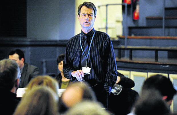 Ian Wilson, interim chief executive of the Oxfordshire Clinical Commissioning Group, pictured at the meeting Picture: OX64499 David Fleming