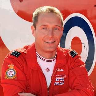 Flight Lieutenant Sean Cunningham, 35, who was killed after being ejected from his Hawk T1 while on the ground at RAF Scampton in Lincolnshire on November 8 2011.