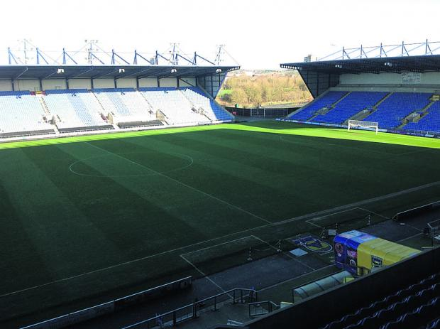The Kassam Stadium pitch in immaculate condition yesterday