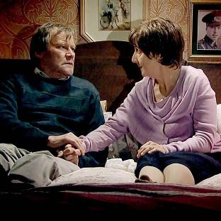 Banbury Cake: Hayley and Roy Cropper, played by Julie Hesmondhalgh and David Neilson