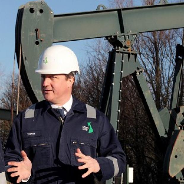 Banbury Cake: Prime Minister David Cameron visited the IGas shale drilling plant oil depot near Gainsborough, Lincolnshire, on Monday