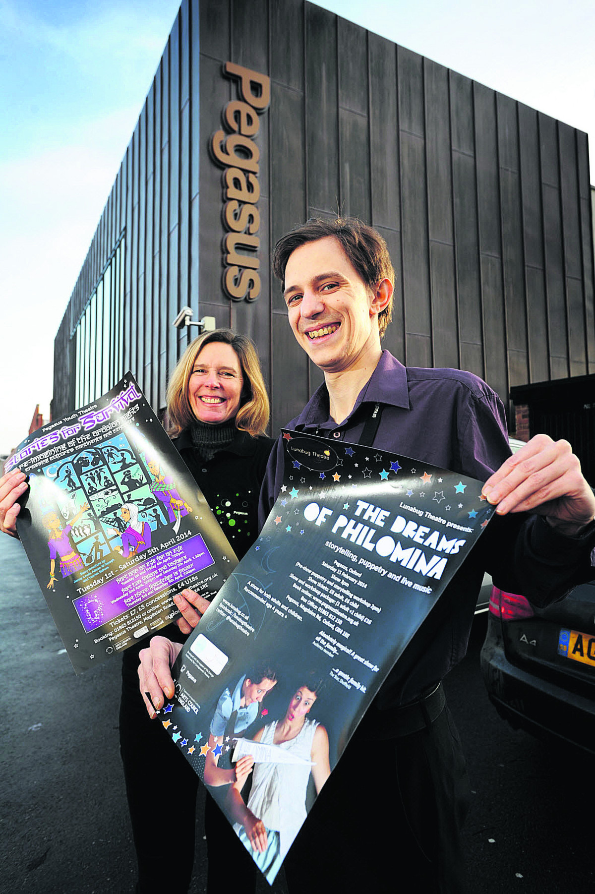 Pegasus Theatre volunteer Julia Tilford with assistant operations manager Joe Shuter. Picture:  OX64794 Jon Lewis