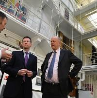 Banbury Cake: Jeremy Wright (centre) says employment can make a vital difference to the likelihood of reoffending.