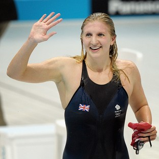 Olympic medal-winning swimmers Becky Adlington and Michael Jamieson battled their way to a Guinness World Record 100 x 1