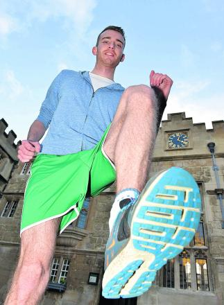 Garreth McCrudden gets into his training at Jesus College in aid of Bliss. Picture: OX65040 Simon Williams