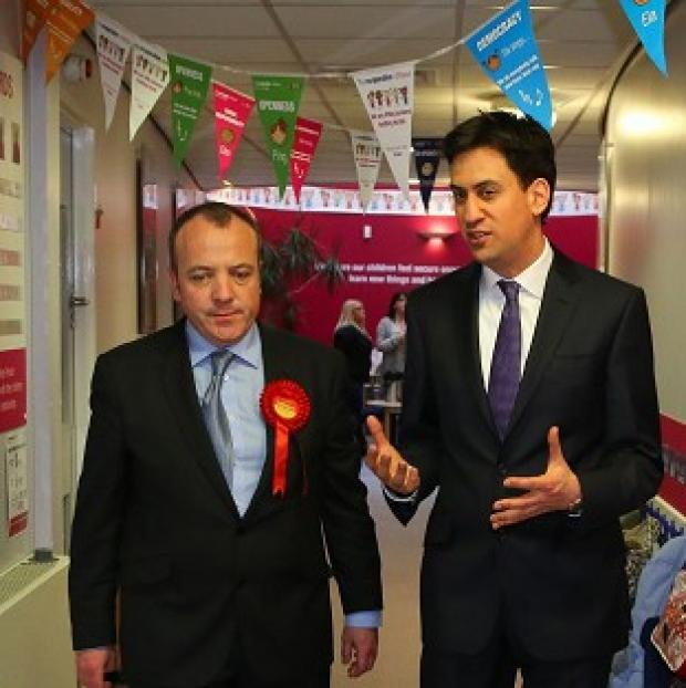 Banbury Cake: Labour Leader Ed Miliband helped new Wythenshawe and Sale East MP Michael Kane campaign