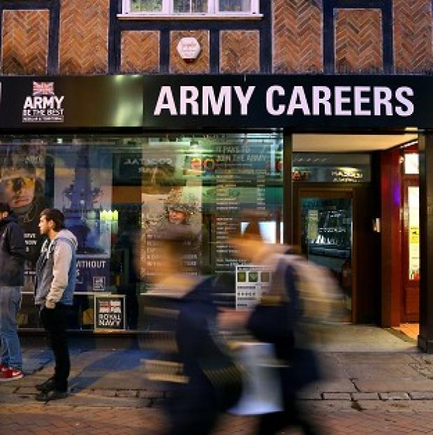 Banbury Cake: The Army Careers office in Canterbury, Kent, one of the armed forces recruitment offices where suspected explosive devices have been found