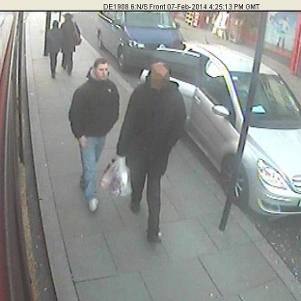 Banbury Cake: CCTV picture shows Dean Mayley (left), walking in Greenford shortly before he was murdered