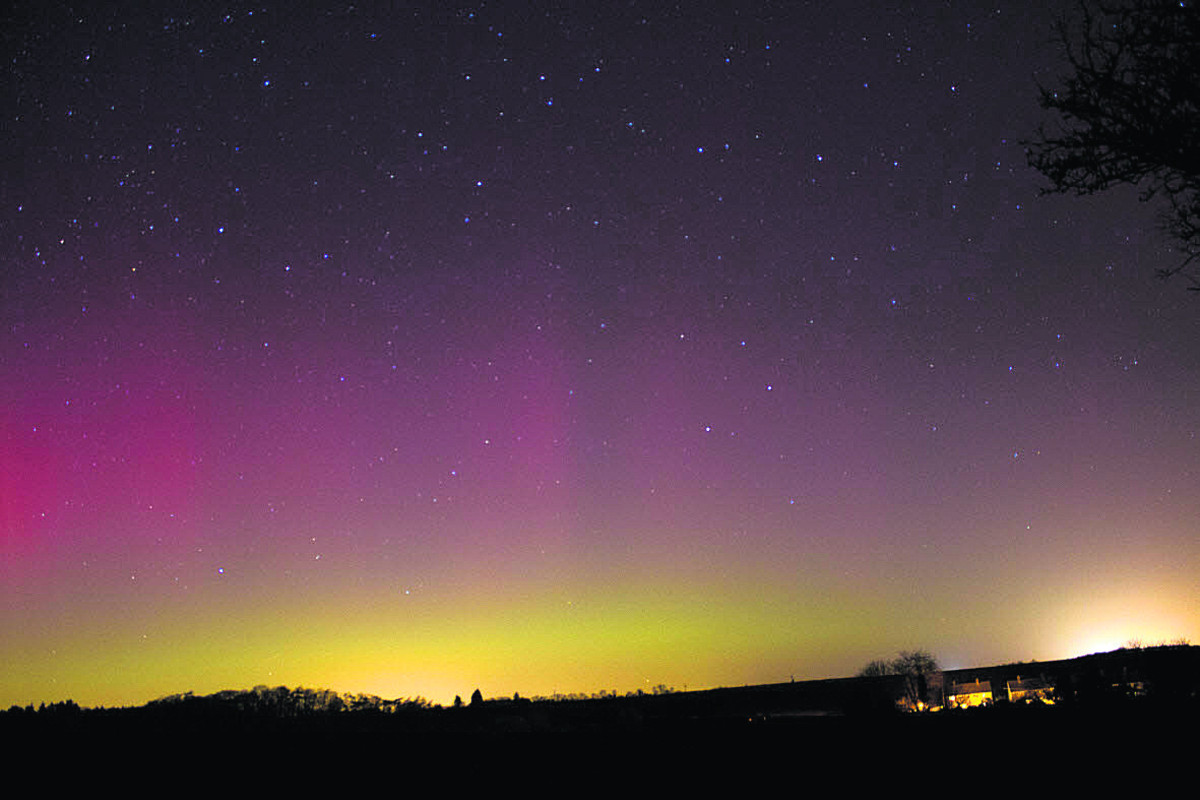 Mary Spicer's images of the Aurora Borealis over Tackley