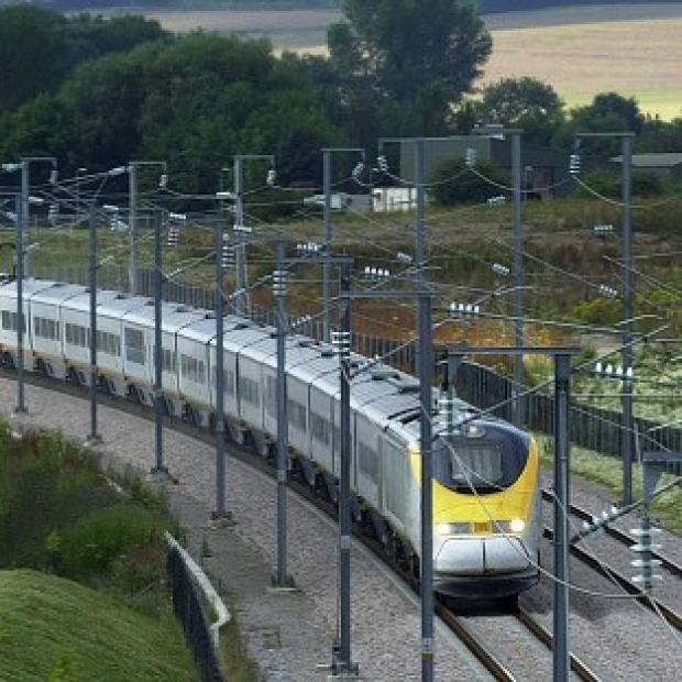 Banbury Cake: A Eurostar train travels through Ashford in Kent