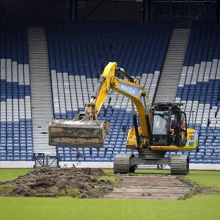 Banbury Cake: Turf was dug up at Hampden Park to prepare the stadium for the 2014 Commonwealth Games