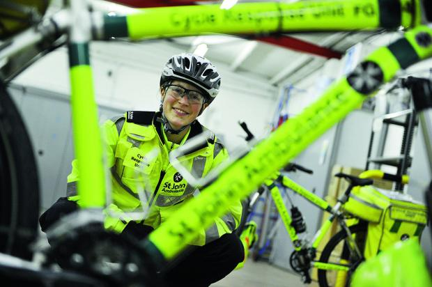 Banbury Cake: Lucy Bruzzone led a team of St John Ambulance cycle responders in Bicester. Volunteers are now needed to join the first aid cyclists