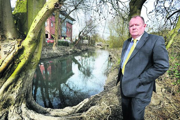 County council deputy leader Rodney Rose at Seacourt Stream, near Botley Road    Picture: OX66060 Jon Lewis