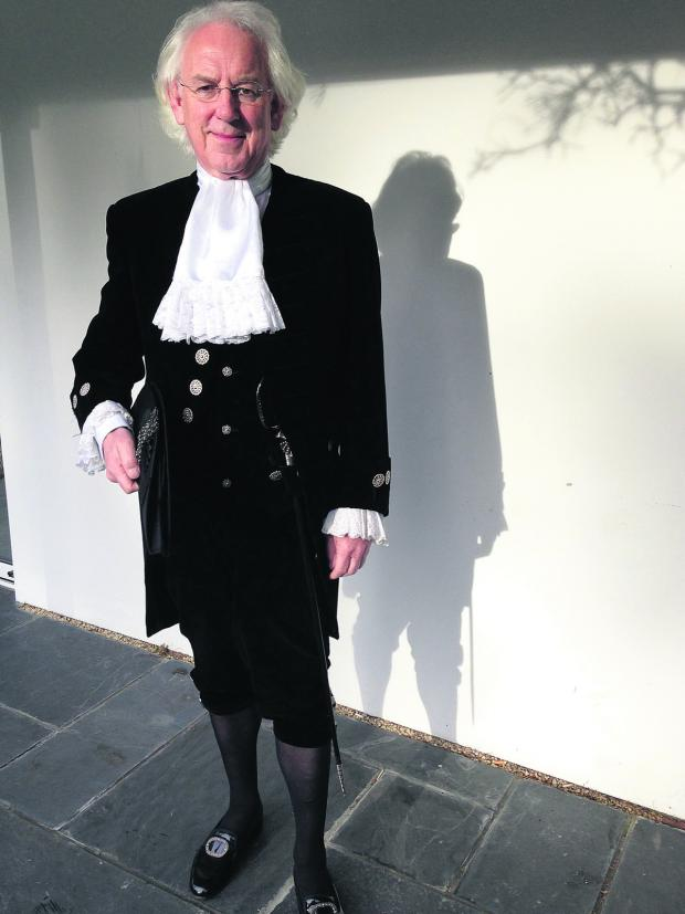 Banbury Cake: Tony Stratton,  who takes up  the position of  High Sheriff of  Oxfordshire next month