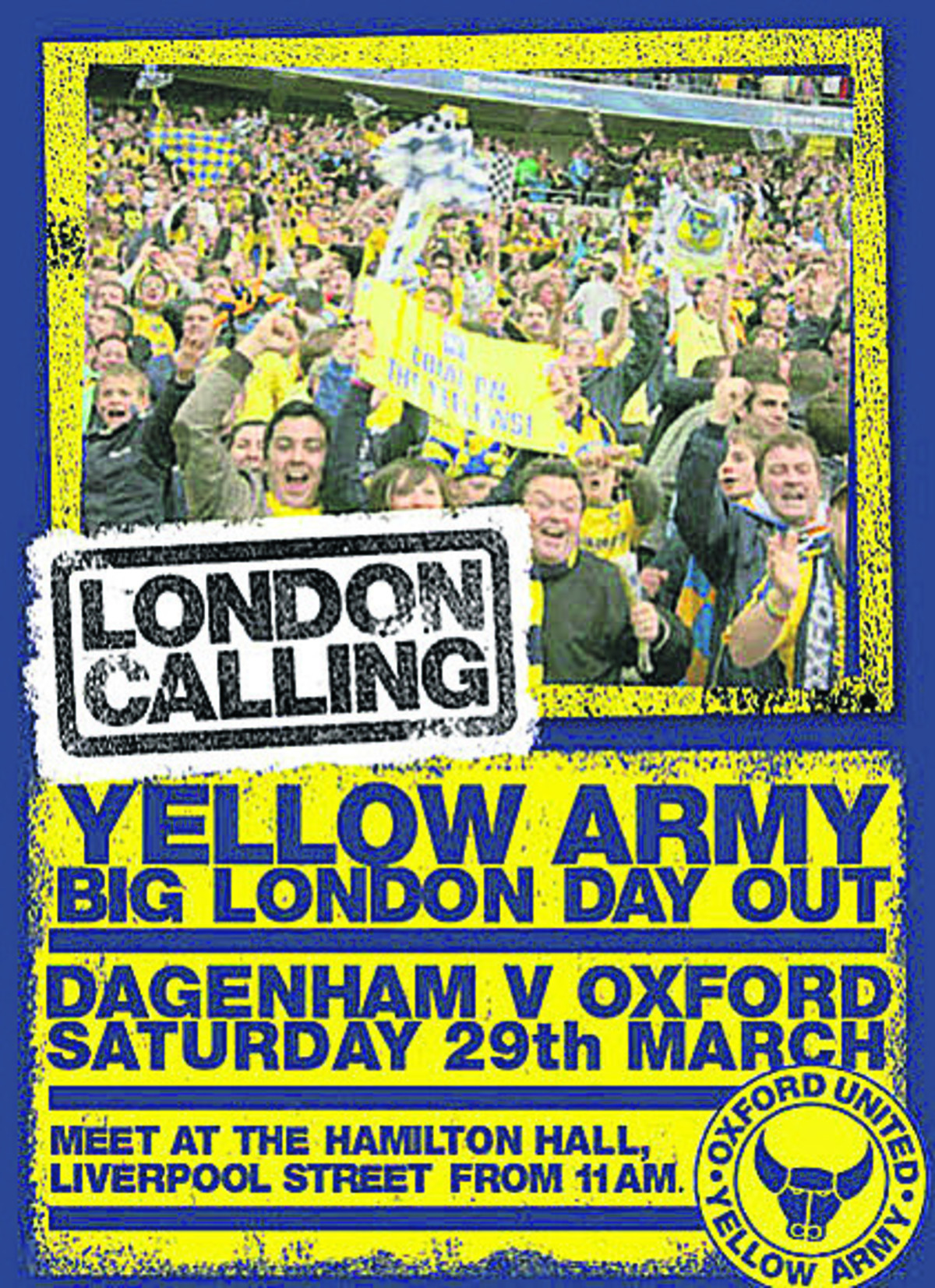 The Yellow Army's flier for tomorrow's game