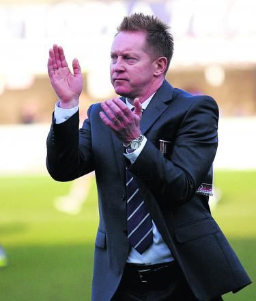 Gary Waddock applauds the United fans who made the trip to Dagenham & Redbridge last Saturday	 Picture: Dan Westwell