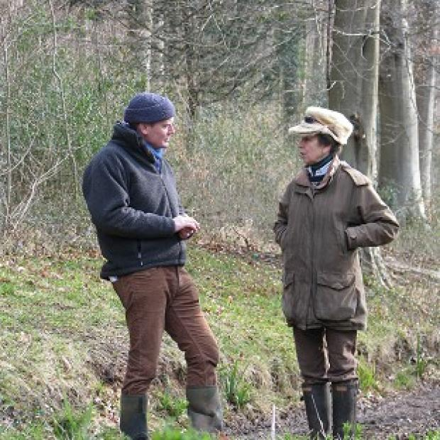 Banbury Cake: Tom Heap interviewing Princess Royal for BBC's Countryfile.