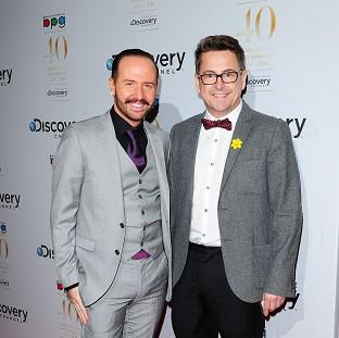 Banbury Cake: Chris Steed and Stephen Webb of Gogglebox, which has been nominated for two Baftas