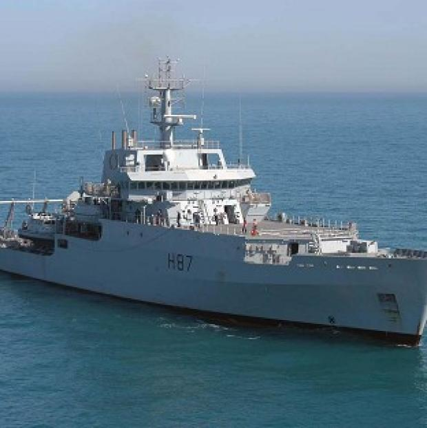 Banbury Cake: HMS Echo is helping in the search for the missing plane.