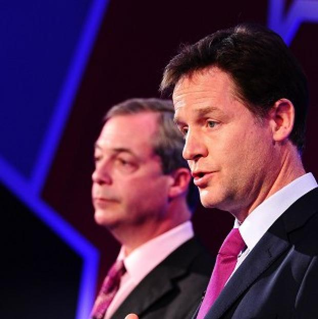Banbury Cake: Nigel Farage and Nick Clegg took part in TV debates about Europe