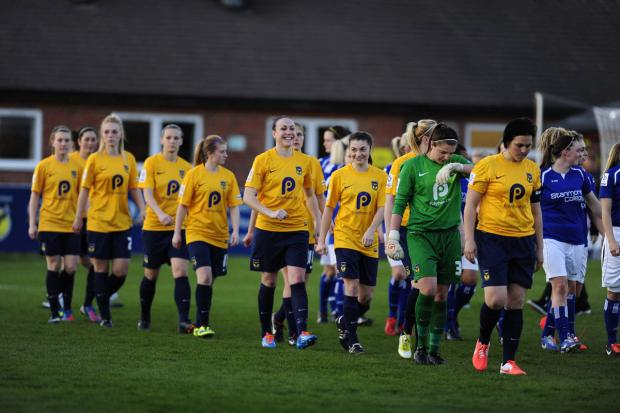 Banbury Cake: Oxford United walk out for the first time to play in the Women's Super League
