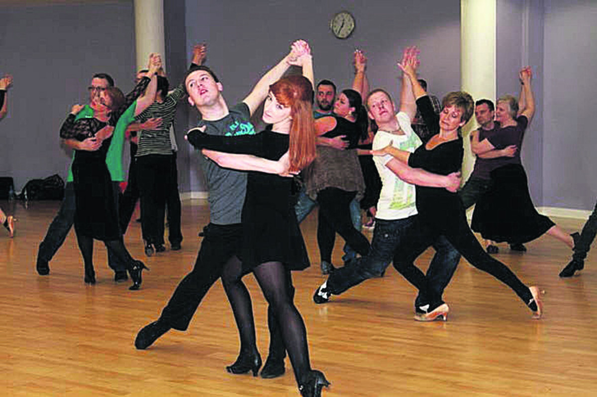 The 'Strictly Banbury' dancers get in some practice before the weekend event