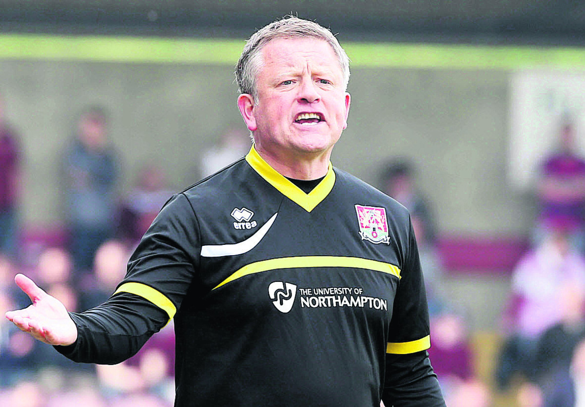 Chris Wilder's Northampton side needs a point to make sure of staying up