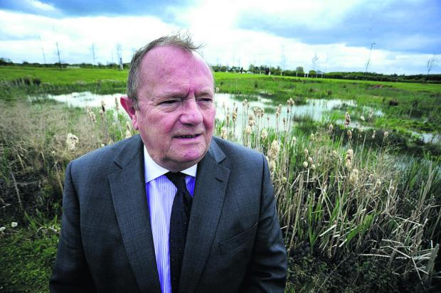 Oxfordshire County Council deputy leader Rodney Rose  at the Kingsmere site near Bicester. Picture: OX66958 David Fleming