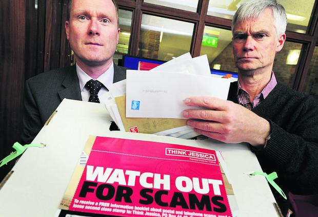Banbury Cake: Richard Webb, head of Oxfordshire County Council's Trading Standards department, left, and David Soward, from Oxfordshire Consumer Empowerment Partnership