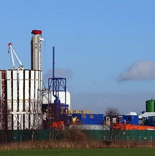 A drilling site in Greater Manchester, as ministers were told to sell the benefits of fracking to the public more