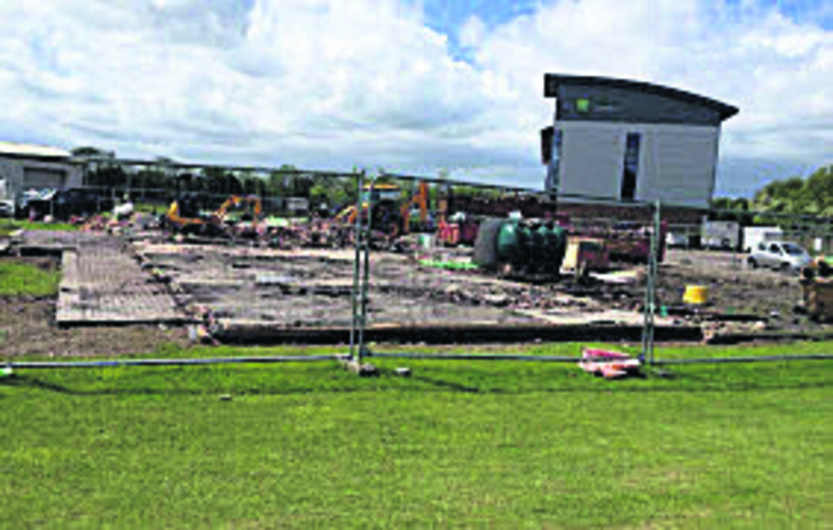 Lightning-hit cricket club is demolished
