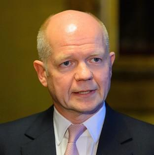 William Hague has dismissed weekend referendum votes staged by pro-Russian separatists in eastern Ukraine
