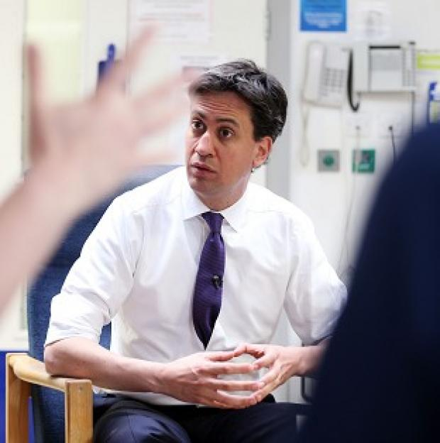 Banbury Cake: Ed Miliband has pledged financial support for GPs' surgeries.