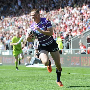 Joe Burgess went over twice for Wigan