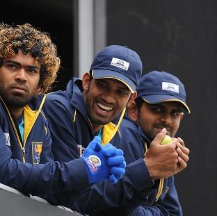 Banbury Cake: Sachithra Senanayake (centre) is confident of better to come from Sri Lanka