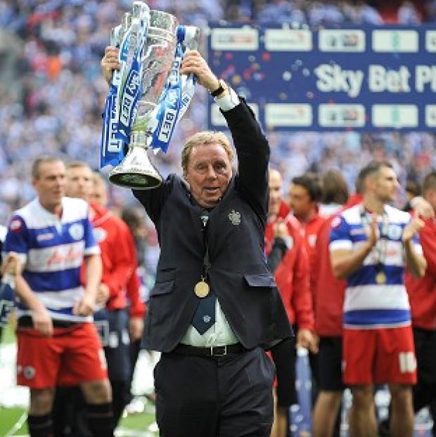 Banbury Cake: Harry Redknapp lifts the trophy