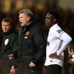 Danny Welbeck, centre right, hit back at David Moyes' comments