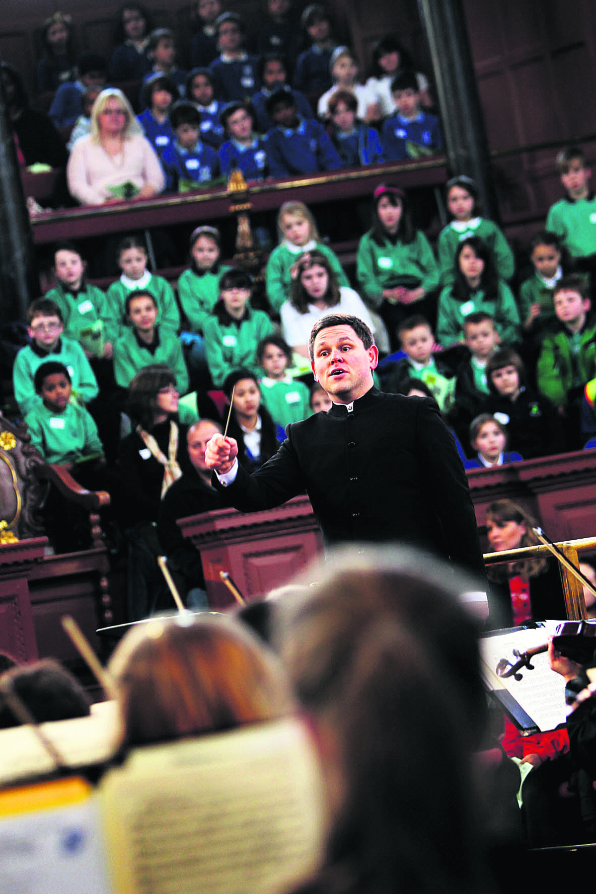 John Traill, who conducts the county's youth orchestra